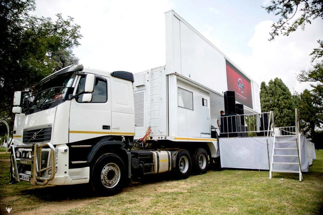 led mobile stage truck price